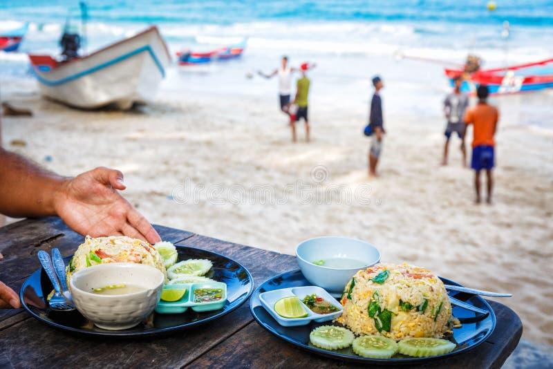 Thailändsk smaklig kokkonst fotografering för bildbyråer