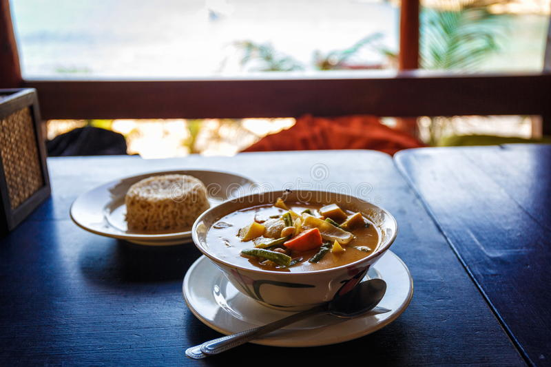 Thailändsk smaklig soppa royaltyfria bilder