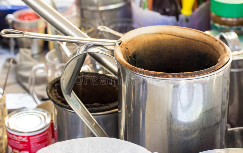 Thailändsk stil för kaffe arkivfoto
