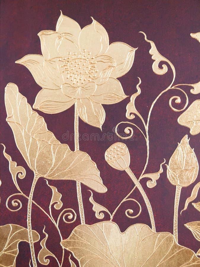 Thailändsk stilmålningskonst royaltyfri bild