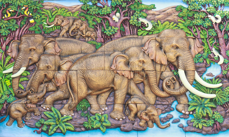 Thailändsk stuckatur royaltyfri bild