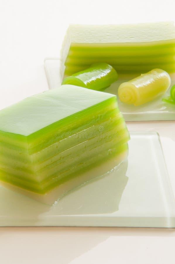 Thailändsk sweetmeat [Khanom Chan] royaltyfria bilder