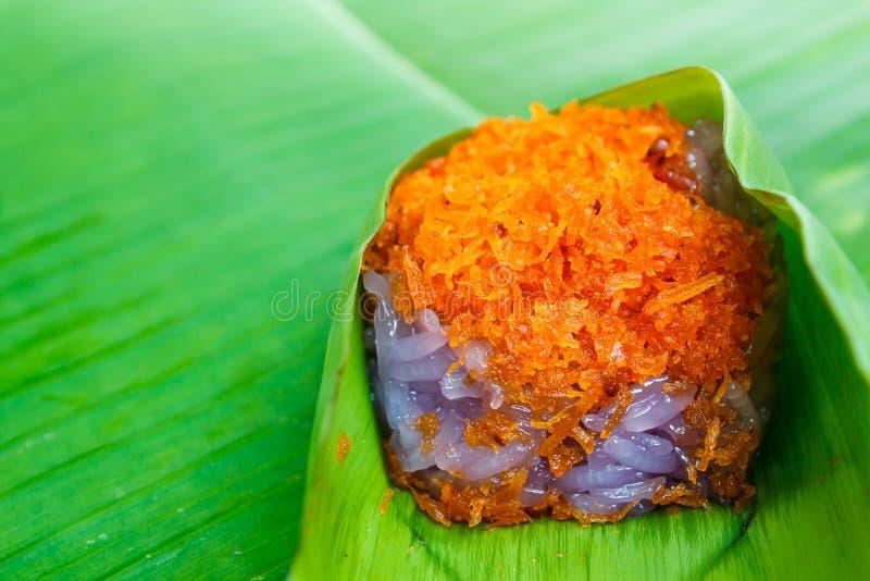 Thailändsk thailändska traditionell efterrätt, thailändska sötsaker eller Khanom royaltyfri fotografi