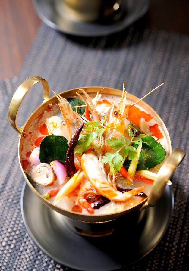 Thailändsk traditionell tom sötpotatissoup royaltyfri bild