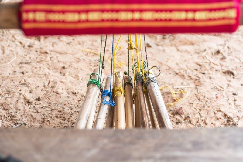 Thailändsk vävstol arkivfoto