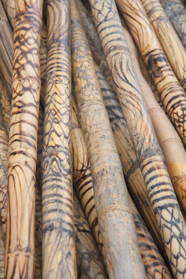 Thailändsk wood rottingbakgrund royaltyfria foton