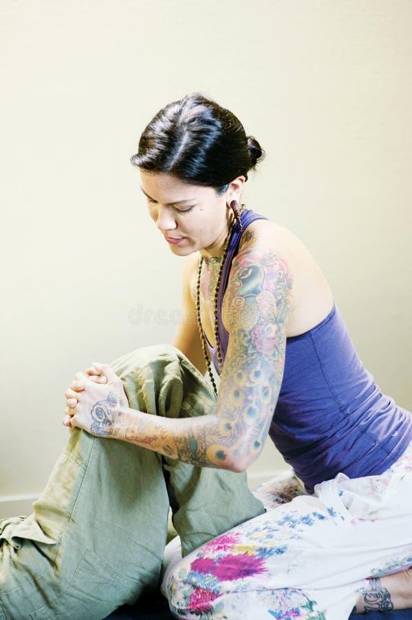 Thailändsk Yoga royaltyfri fotografi