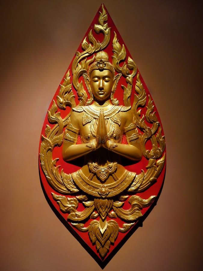 Thailändska Art Buddhist Sculpture royaltyfria bilder