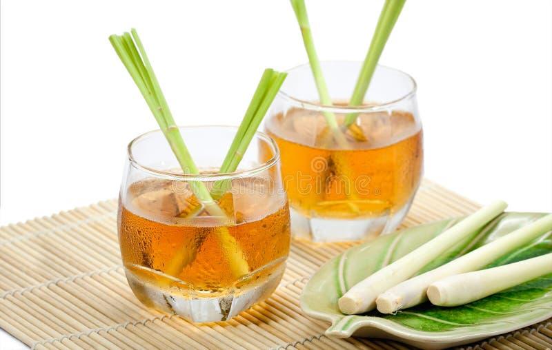 Thailändska växt- drinkar, citrongräs arkivbild