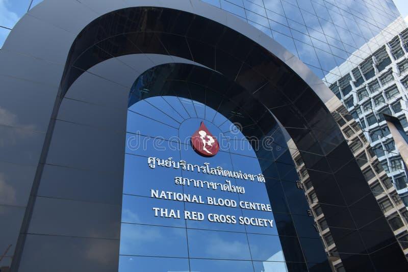 Thailändskt Röda korsetsamhälle bloddonationen Thailand royaltyfri fotografi