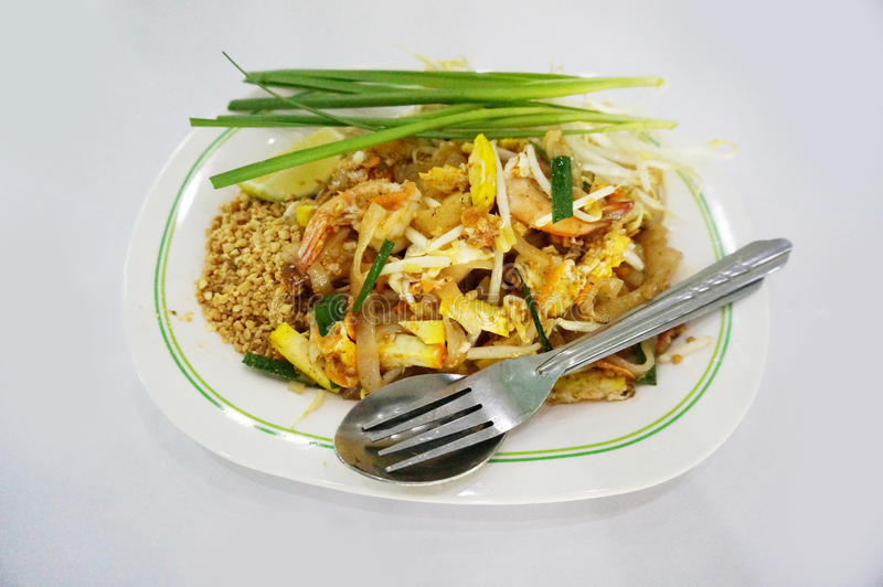 Thailändskt thailändskt mat-block arkivfoton