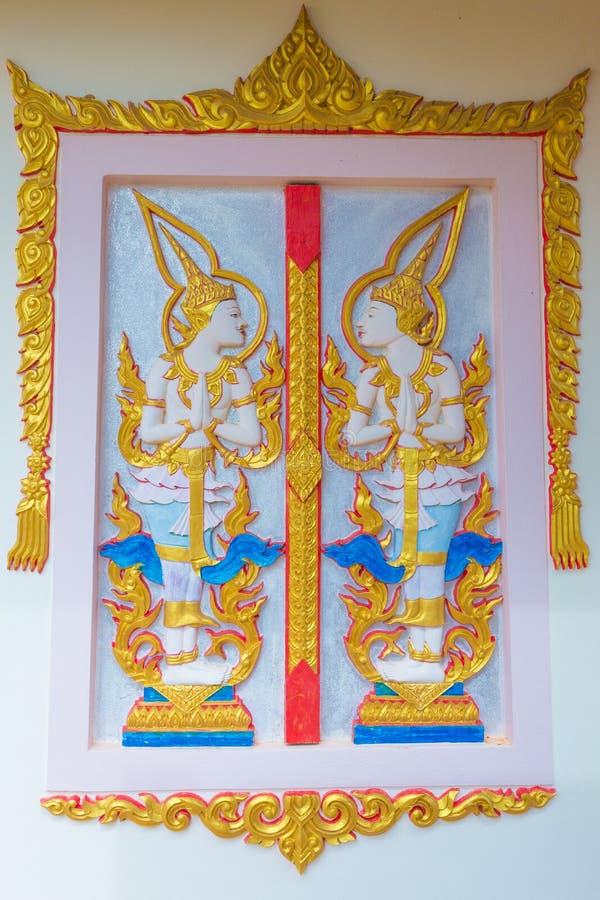 Thailand ängelskulptur fotografering för bildbyråer
