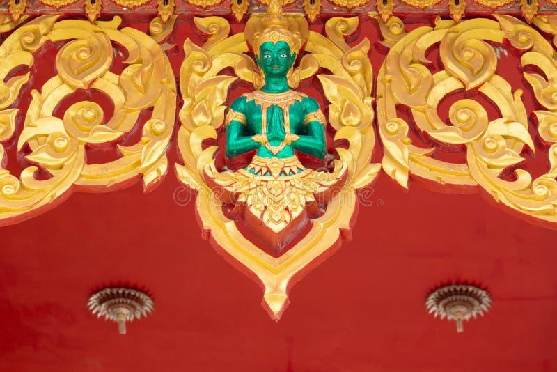 Thailand ängelskulptur royaltyfria bilder