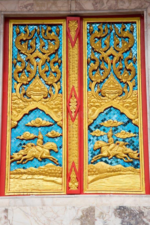 Thailand ängelskulptur arkivbilder