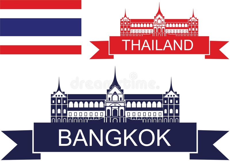 thailand illustrazione di stock
