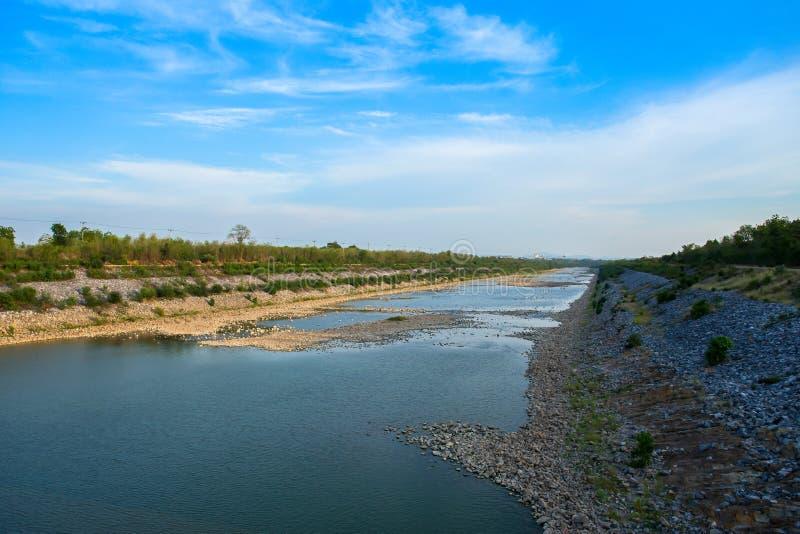 Thailand, Achtergronden, Schoonheid, Blauw, Dam royalty-vrije stock fotografie
