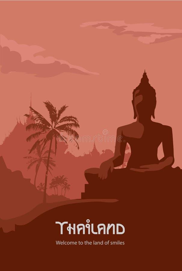 Thailand affischdesign royaltyfri illustrationer