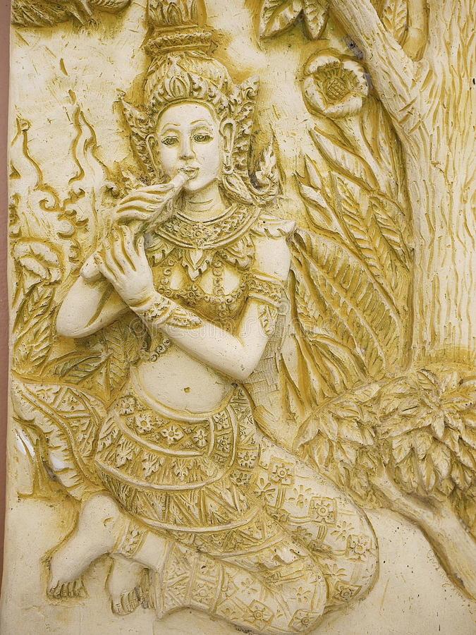 Thailand angel art stock image. Image of place, relief - 32461331