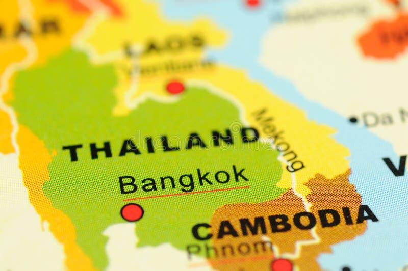 Thailand auf Karte stockbild
