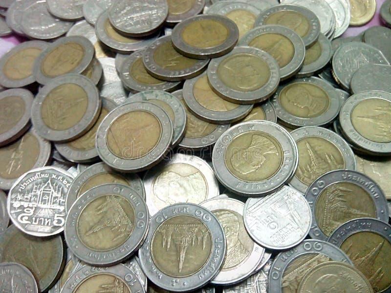 Thailand-Baht prägt Geld lizenzfreie stockbilder