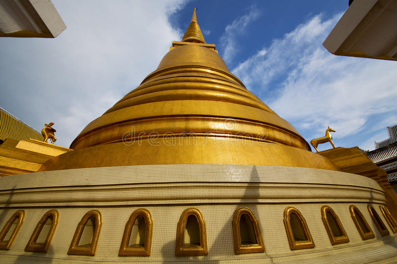 thailand bangkok abstract cross l gold in the temple roof wind stock photo