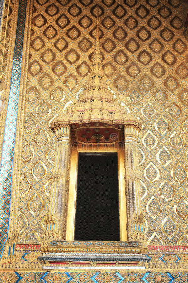 Thailand, Bangkok: door of the golden buddha temple royalty free stock images