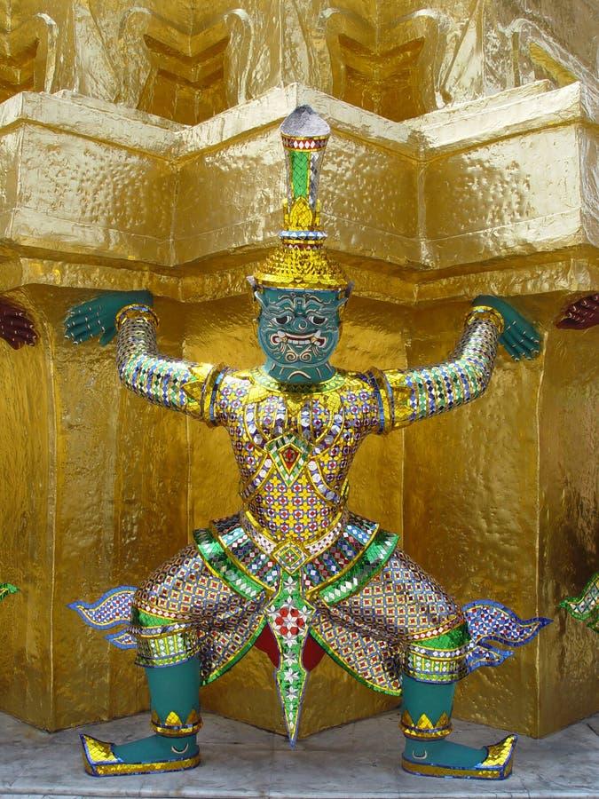 Thailand Bangkok - Effergy holding up Golden Corner royalty free stock image