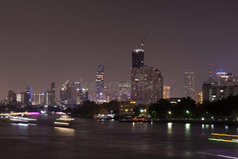 thailand Bangkok Flod royaltyfria bilder