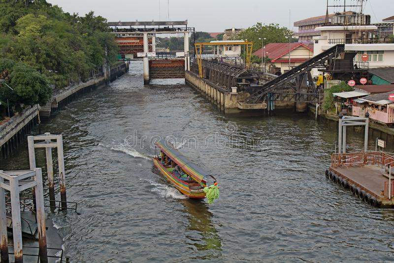 THAILAND BANGKOK Flod arkivfoton