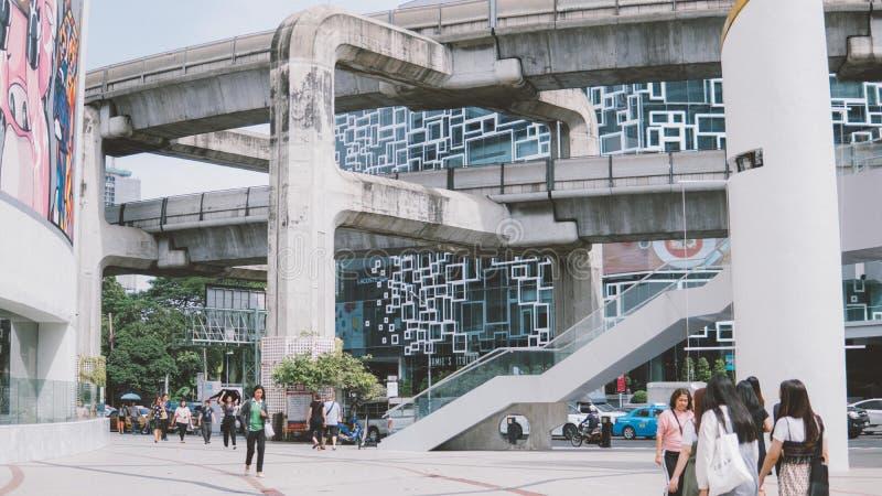 Thailand, Bangkok - November 11 2018: Bangkok tourist life. Scenes from the life of the city of Bangkok. Stylization under the old. Film stock images