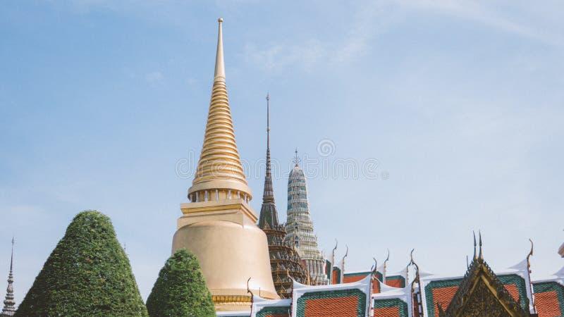 Thailand, Bangkok - November 11 2018: Bangkok tourist life. Scenes from the life of the city of Bangkok. Stylization under the old. Film stock photo