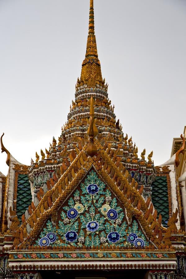 thailand in bangkok rain temple abstract f wat palaces stock photography