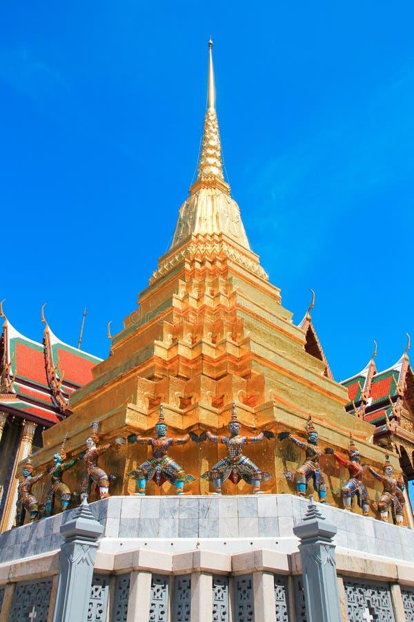 Thailand bangkok slottarkitektur royaltyfria foton