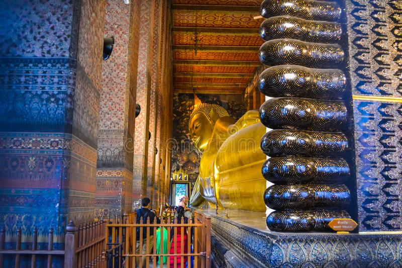 Thailand, Bangkok, Wat Pho is a Buddhist temple in Phra Nakhon district, Bangkok, Thailand. It is located in the Rattanakosin stock photography