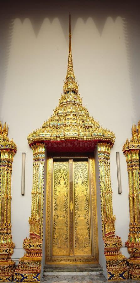 Thailand Bangkok Wat Pho Temple golden door