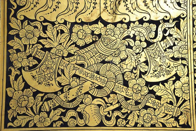 Download Thailand Bangkok Wat Pho Temple Golden Paintings Stock Photo - Image: 5370880