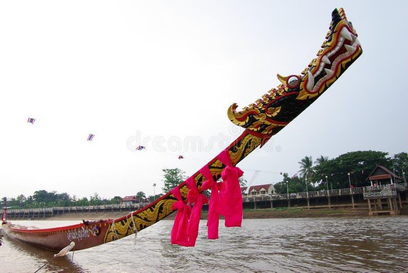 Thailand barkassdrake på huvudet royaltyfri bild