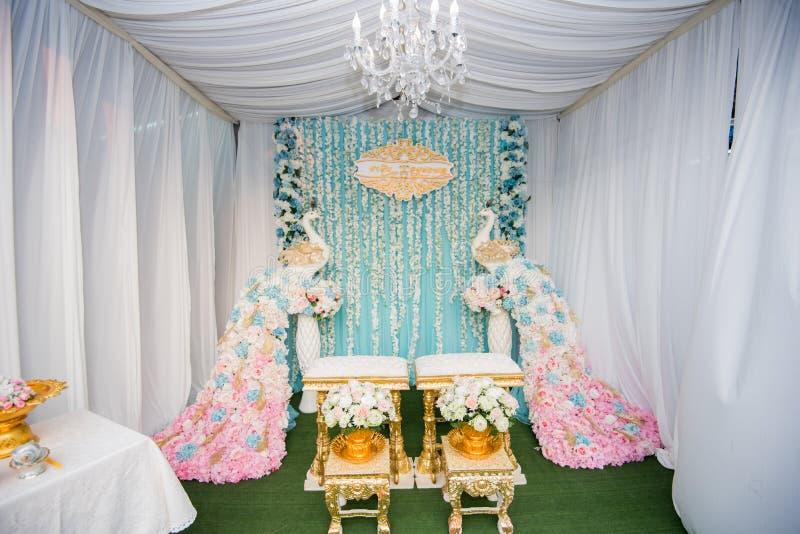 Thailand bröllopetapp, hjälpmedel för tillbehör för bröllopceremoni, weddi royaltyfria foton
