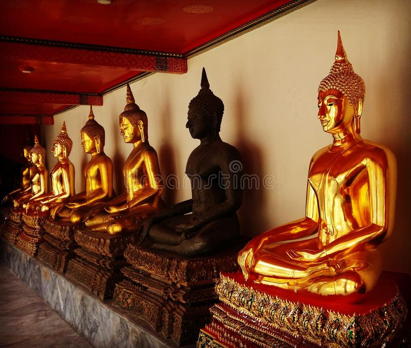 Thailand Budas fotografering för bildbyråer