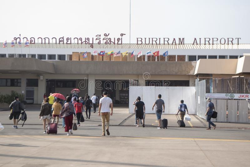 THAILAND BURIRAM AIRPORT stock images