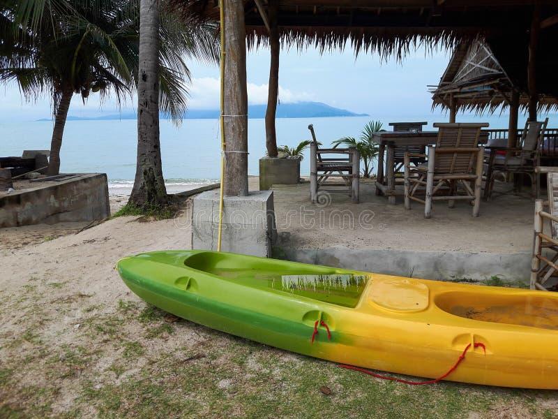 Thailand. Canoe near the sea. royalty free stock images