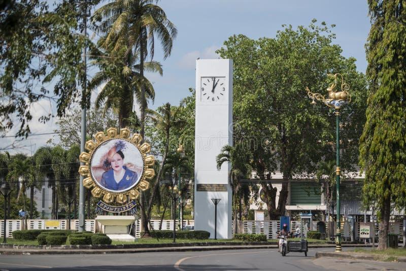 THAILAND CHANTHABURI CITY CLOCK TOWER royalty free stock image