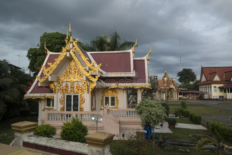THAILAND CHANTHABURI WATERFRONT WAT BOT fotografia de stock royalty free