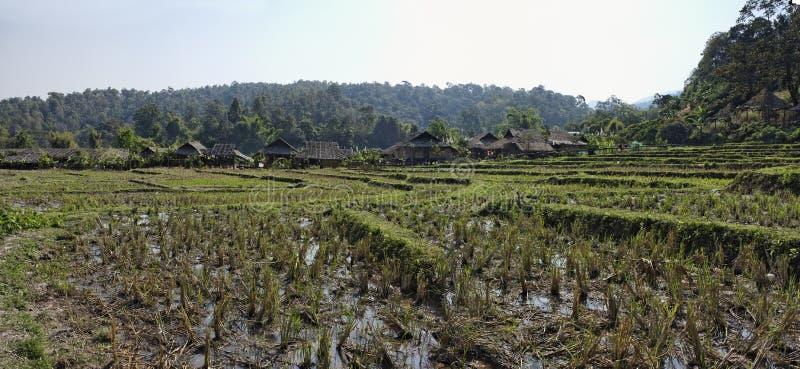 Thailand, Chiang Mai, Karen-langes Stutzendorf stockbild