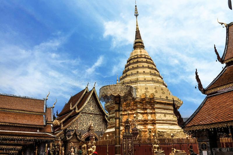 Thailand Chiang Mai Wat Phra That Doi Suthep stock photography