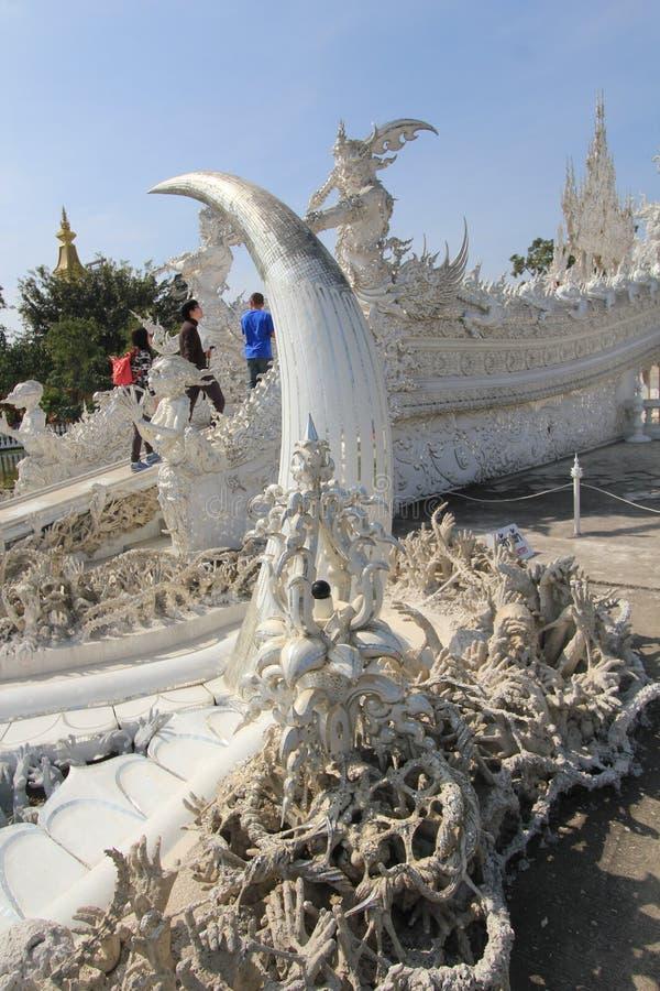 Thailand Chiang Rai White Temple, Wat Rong Khun stock foto's