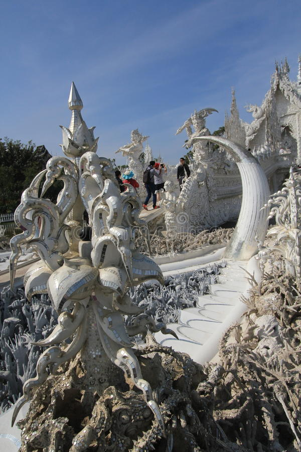 Thailand Chiang Rai White Temple, Wat Rong Khun royalty-vrije stock foto's