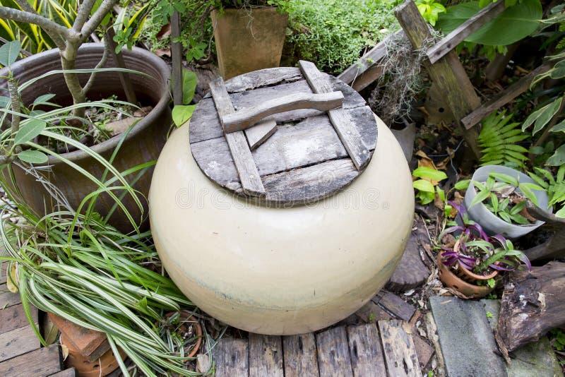 Thailand Clay Jar fotografering för bildbyråer