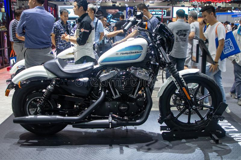 Thailand - Dec , 2018 : harley davidson motorcycle show in motor expo stock photos