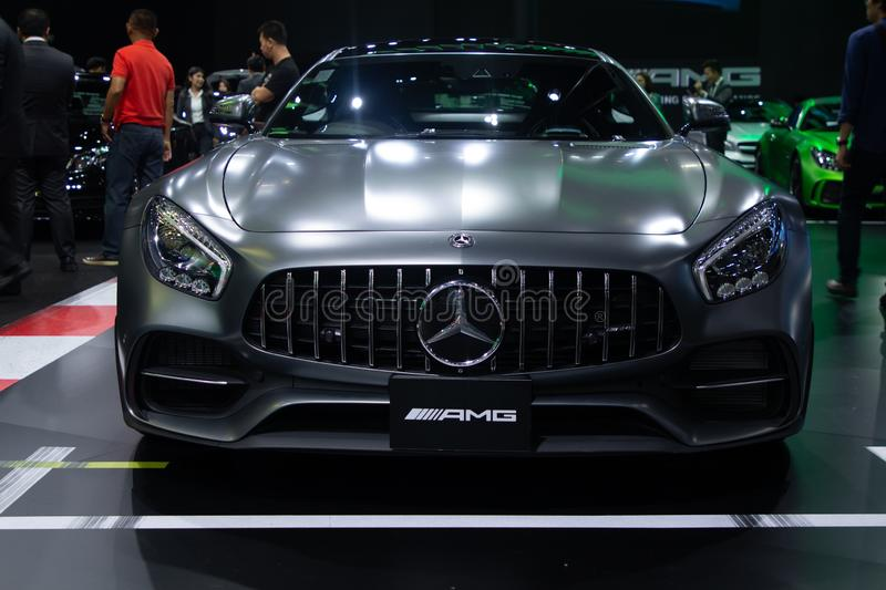 Thailand - Dec , 2018: Mercedes benz AMG luxury sport car high performance in motor show royalty free stock images